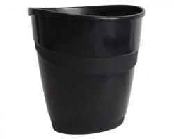 Arda 4116N Cestino gettacarta smile nero opaco, capacità 16 litri