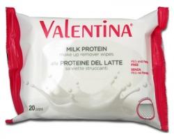 Valentina Salviette struccanti alle proteine del latte, maxi pocket da 20pz