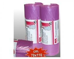 Sacchi per rifiuti viola 70 x 110cm, 10 strappi - 1conf.