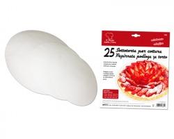 Carta da forno rotonda antiaderente per torte - conf. 25pz