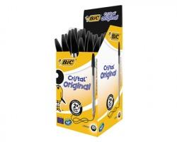 Bic 8373639 Cristal - Penna nera a sfera punta media, tratto 1mm - conf. 50pz