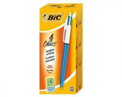 Bic 801867 4 Colours - Penna a sfera con 4 colori (rosso,verde,blu,nero) - conf.12pz