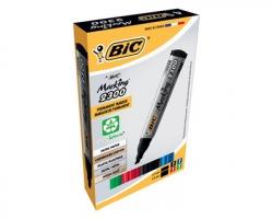 Bic 8209222 Marking 2300 - Box 1x4 marcatori permanenti assortiti con punta a scalpello