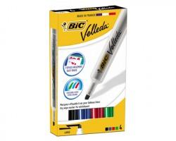 Bic 875789 Box 1X4 Marcatori velleda 1791 punta a scalpello 3.5-5.5mm, colori assortiti
