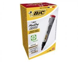 Bic 8209133 Marking 2000 - Marcatore rosso permanente con punta tonda 1.7mm - conf.12pz