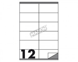 Markin X210C504 Etichette adesive bianche 105 x 48mm 100ff - 1pz