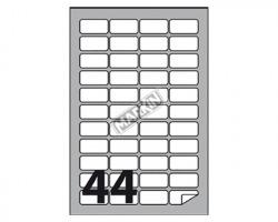 Markin X210C551 Etichette adesive bianche c/angoli arrotondati 45 x 23mm 100ff - 1pz