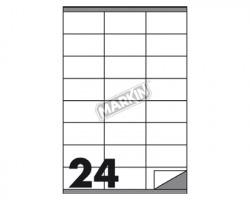 Markin X210C500 Etichette adesive bianche 70 x 36mm 100ff - 1pz