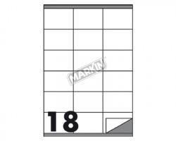 Markin X210C517 Etichette adesive bianche 70 x 48mm 100ff - 1pz