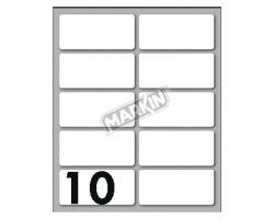Markin X10040 Etichette adesive bianche 56 x 26mm 10ff - conf. 25pz