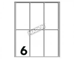 Markin X10048 Etichette adesive bianche 73 x 37mm 10ff - conf. 25pz