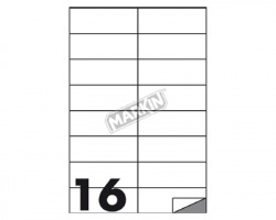 Markin X210C511 Etichette adesive bianche 105 x 37.12mm 100ff - 1pz