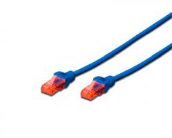 Cavo di rete patch UTP Cat.5e 2 mt, colore blu