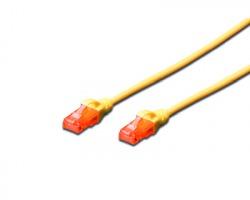Cavo di rete patch UTP Cat.5e 3 mt, colore giallo