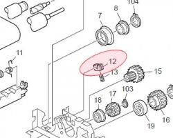 Ricoh AE03-1045 Boccola rullo tensione cinghia originale