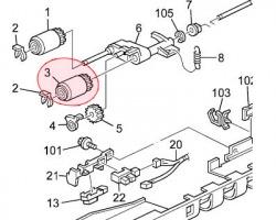Ricoh AF031065 Paper feed roller originale