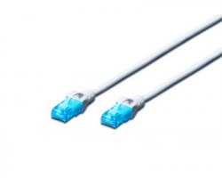 Cavo di rete patch UTP Cat.5e 0.25 mt, colore grigio