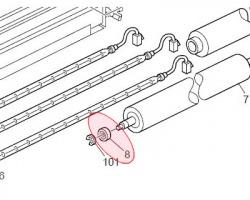 Ricoh AE030053 Cuscinetto rullo fusore inferiore originale