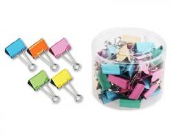 Molle double clips in barattolo in colori assoriti 19mm - conf. 50pz
