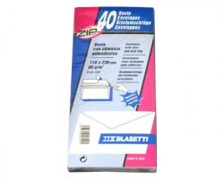 Blasetti 552 Buste bianche 11x23 uso mano, 40 buste c/lembo autoadesivo - confezione 12pz