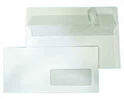 Blasetti 157 Eco Strip Laser - Buste 11x23 a tasca c/lembo autoadesivo, internografata c/finestra - confezione 500pz