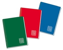 Blasetti 1373 Rubrica cartonata A4 48ff rigatura 1R 70gr, colori assortiti - 1pz