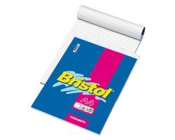 Blasetti 1035 Bristol - Blocco a punto metallico A4 60 fogli con rigatura 1r - conf.10pz