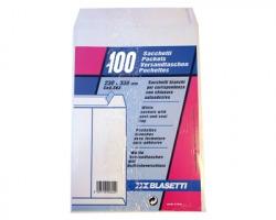 Blasetti 563 Sacco in carta bianca uso mano 80gr, 23cmx33cm 100pz