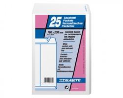 Blasetti 535 Self 80 sacchi, 16cmx23cm in carta bianca uso mano,80gr 25pz