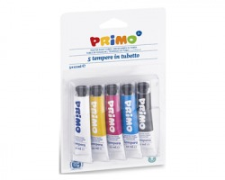 Primo 442T5BL Blister da 5 tempere colori primari in tubetto da 12ml