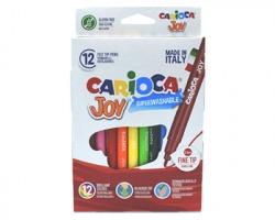 Carioca 40614 Joy - Pennarelli superlavabili scatola 12pz colori assortiti
