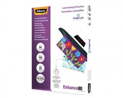 Fellowes 5306114 Enhance - Pouches in poliestere A4 spessore 80my 100 pz