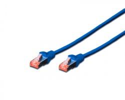Cavo di rete patch S/STP Cat.6 5 mt, colore blu