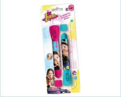 Disney Soy Luna Set di 2 penne con luce, in blister