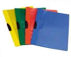 Fellowes F006AZ Video clipper cartellina 22 x 30cm con clip centrale, colore azzurro - conf. 10pz