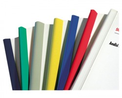 Fellowes D103BI Dorsini rilegafogli con estremità arrotondate colore bianco 50 pz