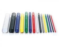 Fellowes 5347803 Dorsini plastici a spirale bianco 21 anelli 22mm 50 pz
