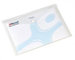 Rexel 00111318 Buste con bottone A4 trasparente - 5pz