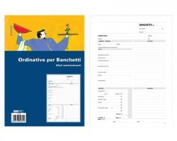 Edipro E5960 Blocco preventivo e ordinazione per banchetti, 50 pagine per 2 copie, autoricalcante