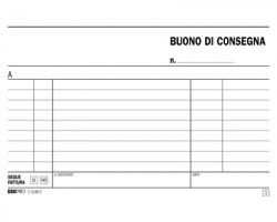 Edipro E5196C Blocco buono di consegna 50pagine per 2 copie autoricalcante confezione 10pz