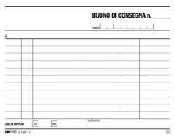 Edipro E5197C Blocco buono di consegna 50pagine per 2 copie autoricalcante confezione 10pz