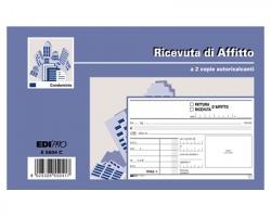 Edipro E5504C Blocco ricevuta d'affitto 50 pg x 2 copie autoric.conf. 10pz