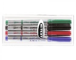 Etafelt 20760XX004BE Hi text 760 micropoint penna punta sintetica, tratto superfine, 0.8mm,colori assoriti, 4 pz