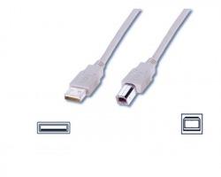 Cavo USB 2.0 A - B 3 metri, grigio, schermato