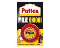 Henkel-Pattex 1415580 Pattex Millechiodi nastro biadesivo 19mm x 1.5m