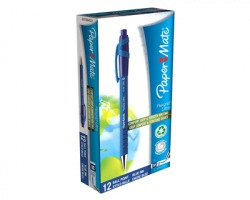 Papermate S0190433 Flexgrip ultra-penna a sfera a scatto con punta media 1mm, blu, 12pz