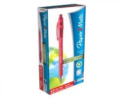 Papermate S0190413 Flexgrip ultra-penna a sfera a scatto con punta media, 1mm, rosso, 12pz