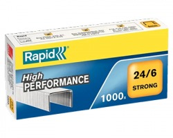 Rapid 24855800 Scatola di 1.000 punti 24/6mm strong - 1pz