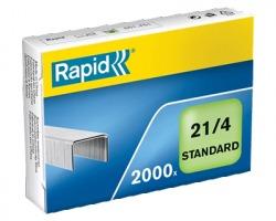 Rapid 24867500 Scatola di 2.000 punti 21/4mm standard - 1pz