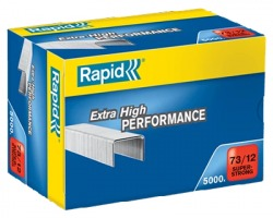 Rapid 24890800 Scatola di 5.000 punti 73/12mm SuperStrong per cucitrice hd31